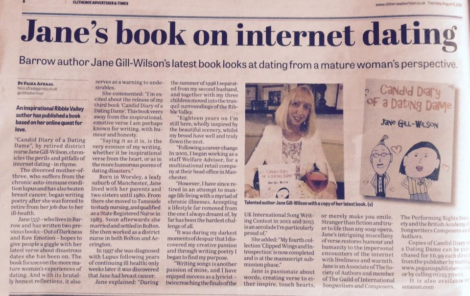 Jane Gill-Wilson in Clitheroe Advertiser