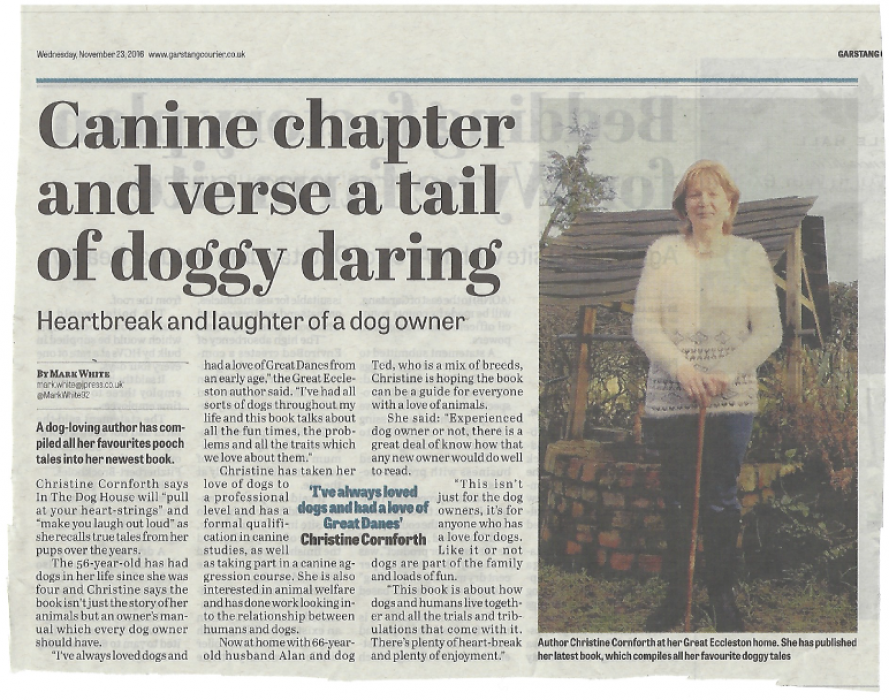 Christine Cornforth in Lancashire Evening Post
