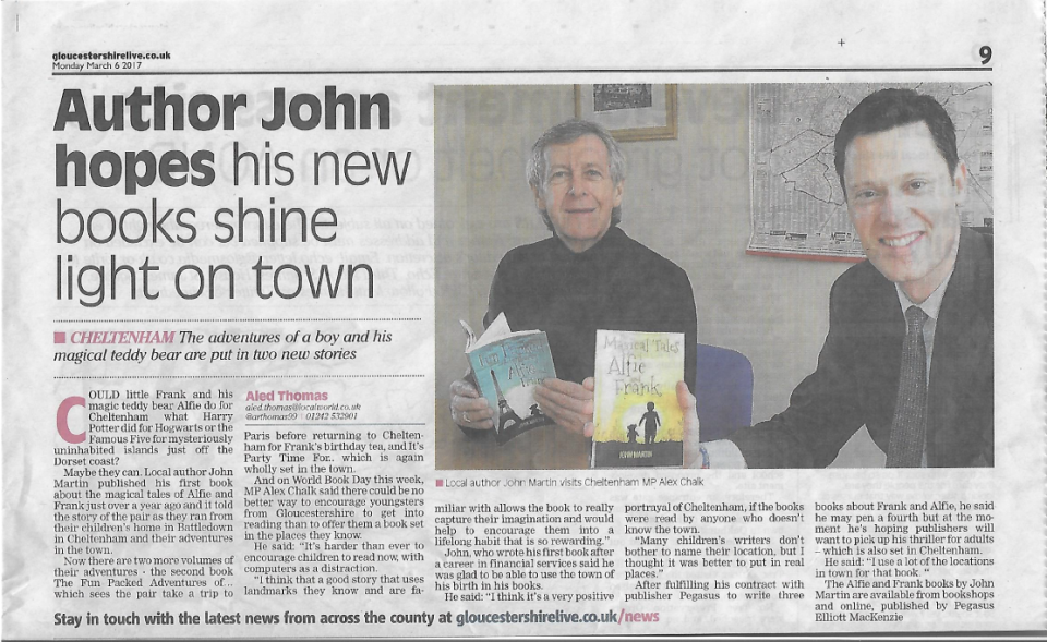 John Martin in the Gloucestershire Echo